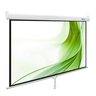 I-View Manual 300x220cms Projector White Screen